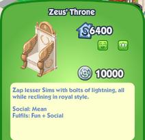 Zeus' Throne Description