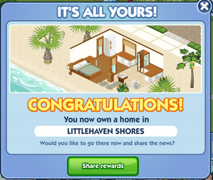 BeachHouse Congrats screen