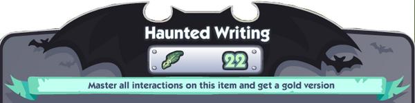 Haunted Writing Banner