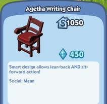 Agetha Writing Chair Description