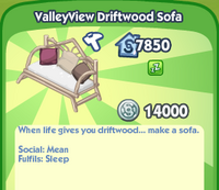 ValleyView Driftwood Sofa