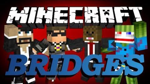 Minecraft Bridges Minigame w CaptainSparklez, SkyDoesMinecraft, and Bashur