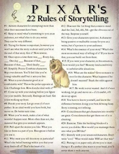 000000 Rules of story telling