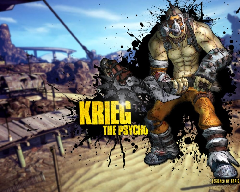 image krieg the psycho borderlands 2 wallpaper by