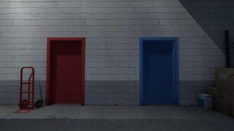 Colored Door Room