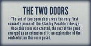 Museum Two Doors Room Plaque