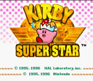 Title Screen - Kirby Superstar