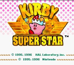 Title Screen - Kirby Superstar