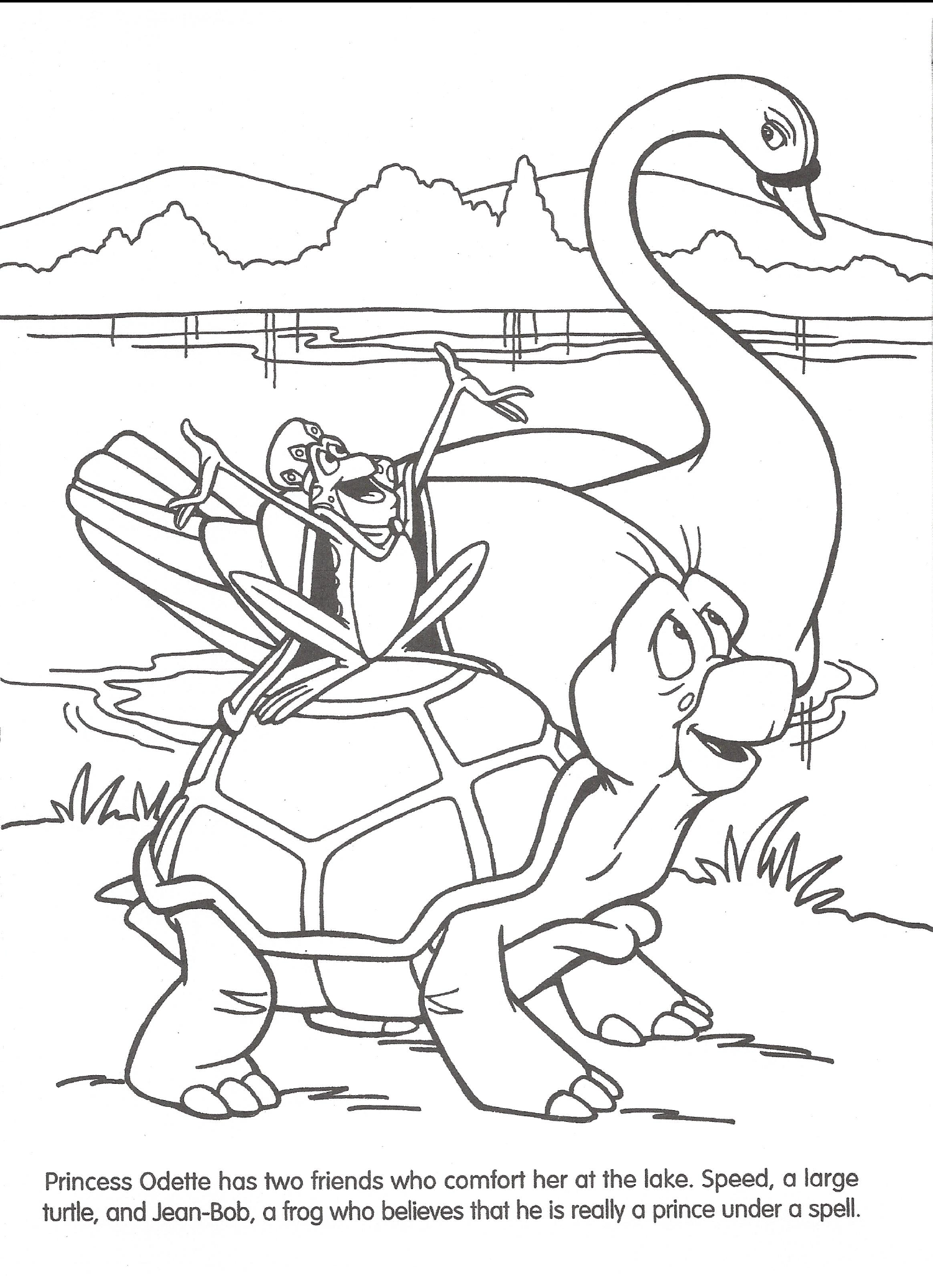 Image - Swan Princess official coloring page 13.png | The Swan ...