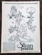 Swan princess coloring page