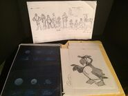 10 lbs of animation production cells & sketches from The Swan Princess (1994) 10