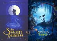 Swan Princsss vs Princess and the Frog early poster