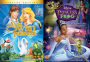 Swan Princsss vs Princess and the Frog dvd