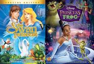 Swan Princsss vs Princess and the Frog dvd