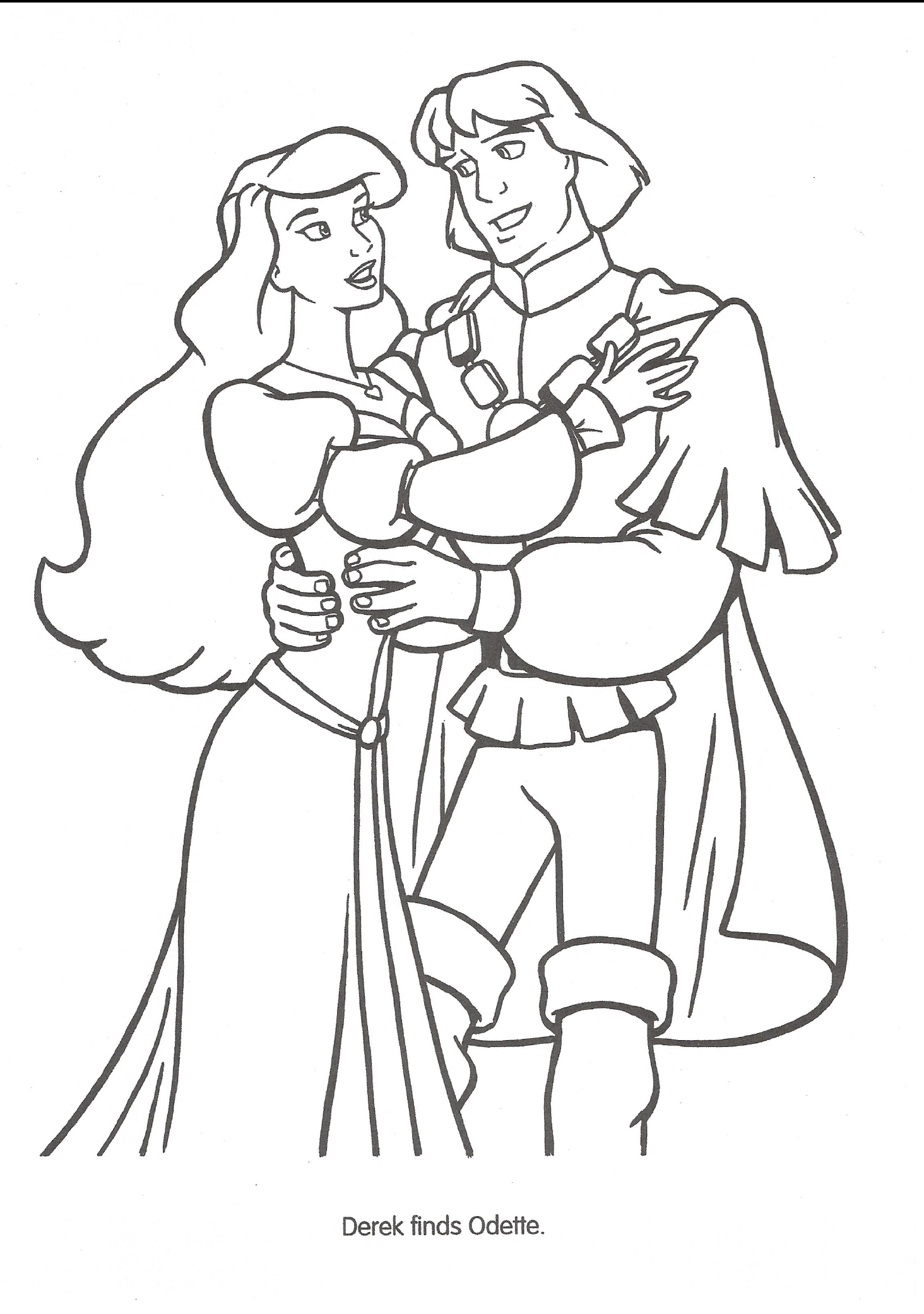 Swan Princess Official Coloring Page 45