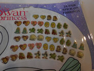 SWAN PRINCESS 24 Pair of Stick-On Earrings
