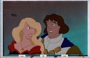 THE SWAN PRINCESS Original Production Animation Cel & Copy Bkgd 3