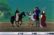 THE SWAN PRINCESS Original Production Animation Cel & Copy Bkgd A25945