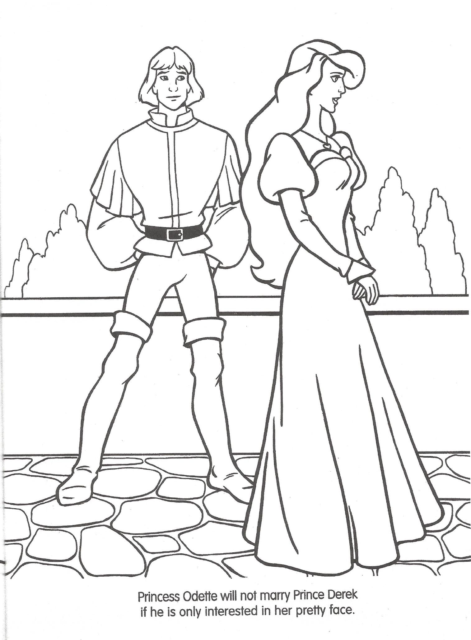 disney swan princess coloring pages - photo#16