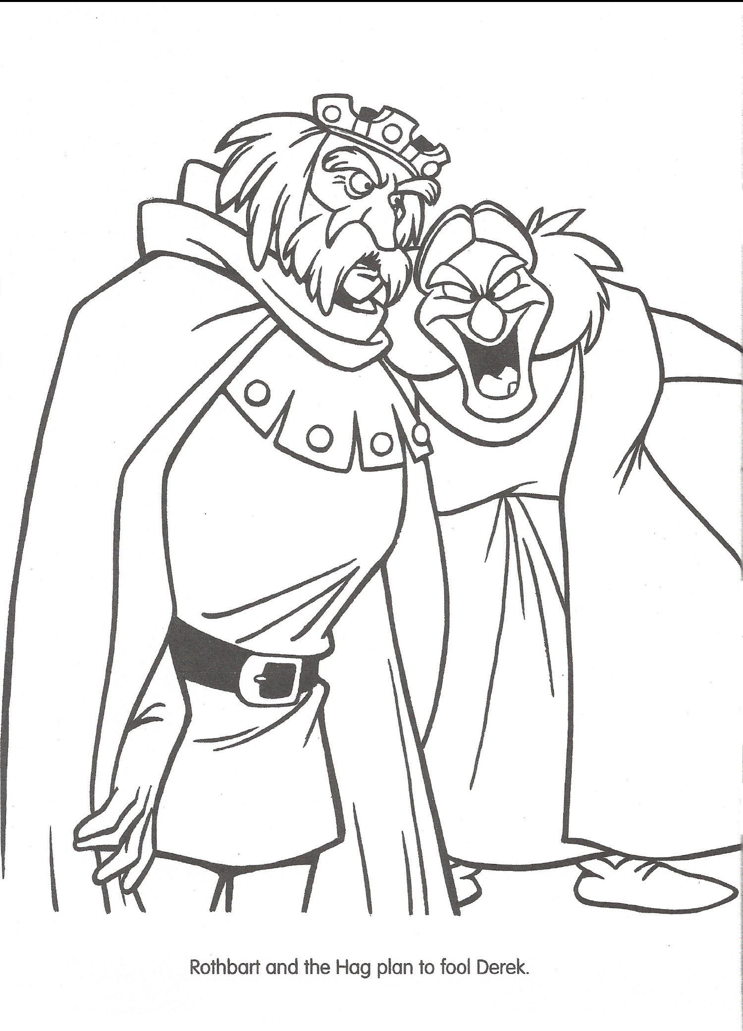 odette and derek coloring pages - photo#19