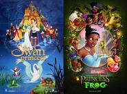 Swan Princsss vs Princess and the Frog poster