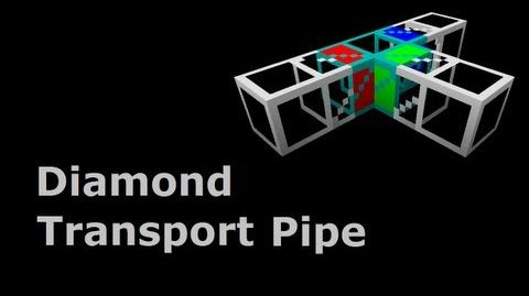 Diamond Transport Pipe - Buildcraft In Minutes