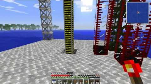 Minecraft oil Refinery pump! Made with scaffolding
