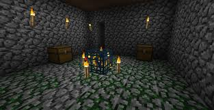 A Normal Minecraft Dungeon Notice The Moss Stone On Floor