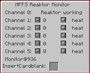 Mffs reactor monitor server gui