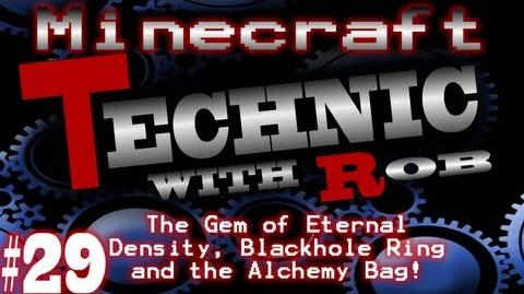 Minecraft Technic Part 29 The Gem of Eternal Density, Blackhole Ring and the Alchemy Bag!