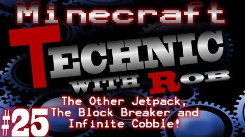 Minecraft Technic Part 25 The Other Jetpack, The Block Breaker and Infinite Cobble!