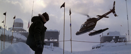 American Helicopter departing Outpost 32 - The Thing (1982)