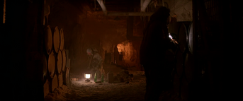 Interior shot of basement, ''The Thing'' (1982)