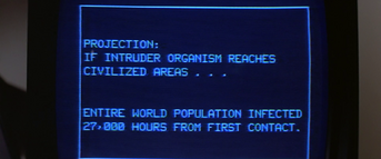Computer projections - The Thing (1982)
