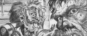 Ploog, Blair absorbs Garry concept art - The Thing (1982)