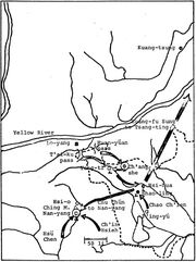 Route of the Imperial Army during YTR