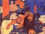 Hua Tuo treats Guan Yu's arm