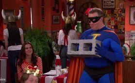Hank Thunderman as Thunderman at a Birthday Party
