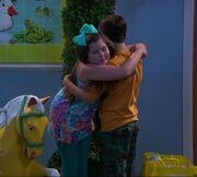 Nora and Billy Hug