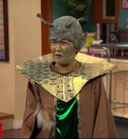 Mrs. Wong in Alien Costume