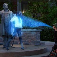 Max freezes Phoebe.