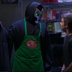 Dark Mayhem giving Max the Orb