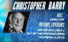 Christopher Barry cott