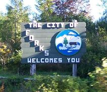 Forks' City Sign