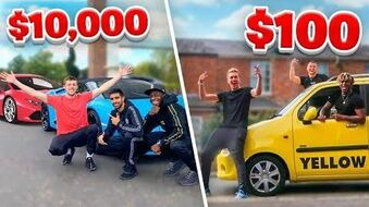SIDEMEN $10,000 VS $100 ROAD TRIP