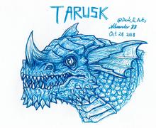 Tarusk fan art by @Dark E Arts