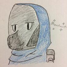 Merchant fan art by @SaichaEevee