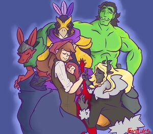 Unexpectables Anna and Thomas fan art by @Fenrir Lives