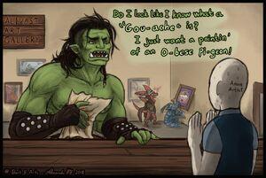 Borky comic 1 fan art by @Dark E Arts