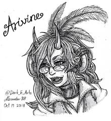 Arivine fan art by @Dark E Arts